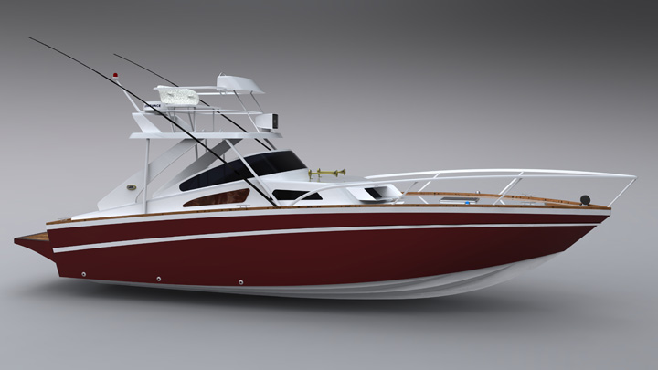 豪华玻璃钢钓鱼艇 - 玻璃钢船 - 威海海宝游艇有限公司图片