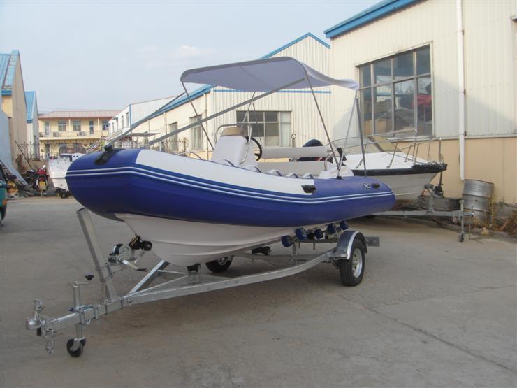 玻璃钢充气艇 - 玻璃钢底充气艇 - 威海海宝游艇有限